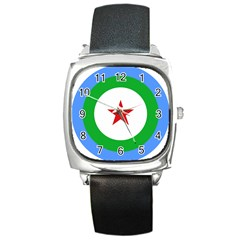 Roundel of Djibouti Air Force Square Metal Watch