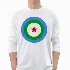 Roundel of Djibouti Air Force White Long Sleeve T-Shirts