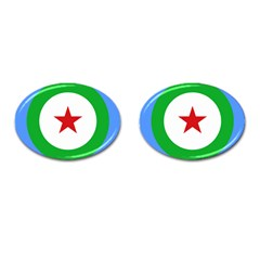 Roundel of Djibouti Air Force Cufflinks (Oval)