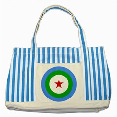 Roundel of Djibouti Air Force Striped Blue Tote Bag
