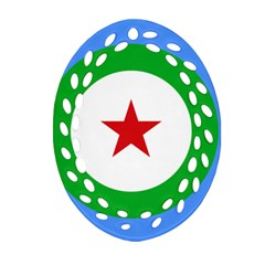 Roundel of Djibouti Air Force Ornament (Oval Filigree)