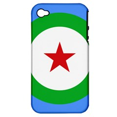 Roundel of Djibouti Air Force Apple iPhone 4/4S Hardshell Case (PC+Silicone)