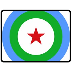 Roundel of Djibouti Air Force Double Sided Fleece Blanket (Large)