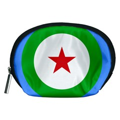 Roundel of Djibouti Air Force Accessory Pouches (Medium)