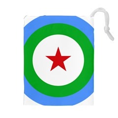 Roundel of Djibouti Air Force Drawstring Pouches (Extra Large)
