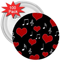 Love song 3  Buttons (100 pack)