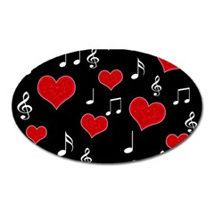 Love song Oval Magnet