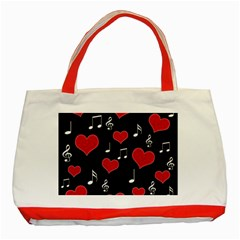 Love song Classic Tote Bag (Red)