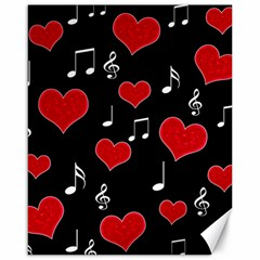 Love song Canvas 16  x 20