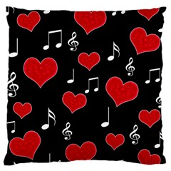 Love song Large Cushion Case (One Side)