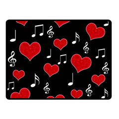 Love song Double Sided Fleece Blanket (Small)