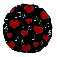 Love song Large 18  Premium Flano Round Cushions