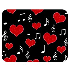 Love song Double Sided Flano Blanket (Medium)