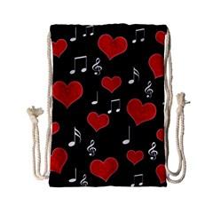 Love song Drawstring Bag (Small)