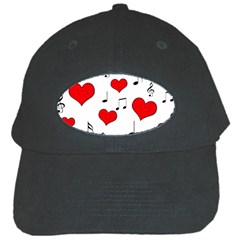 Love song pattern Black Cap