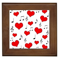 Love song pattern Framed Tiles