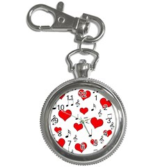Love song pattern Key Chain Watches