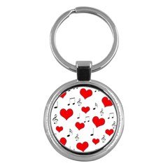 Love song pattern Key Chains (Round)