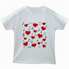 Love song pattern Kids White T-Shirts