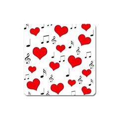 Love song pattern Square Magnet