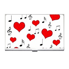 Love song pattern Business Card Holders