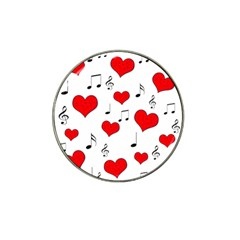 Love song pattern Hat Clip Ball Marker (10 pack)