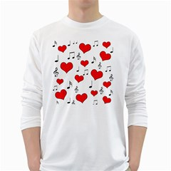 Love song pattern White Long Sleeve T-Shirts