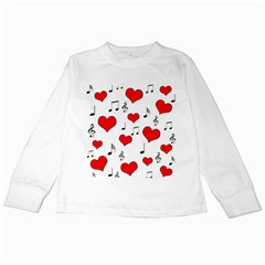 Love song pattern Kids Long Sleeve T-Shirts