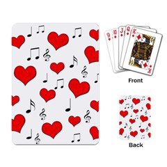 Love song pattern Playing Card