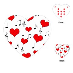 Love song pattern Playing Cards (Heart)