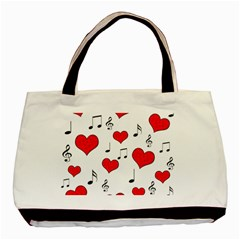 Love song pattern Basic Tote Bag