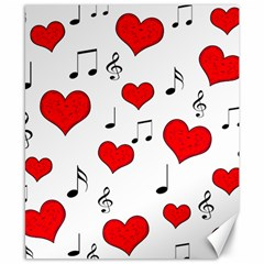 Love song pattern Canvas 8  x 10