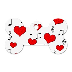 Love song pattern Dog Tag Bone (Two Sides)