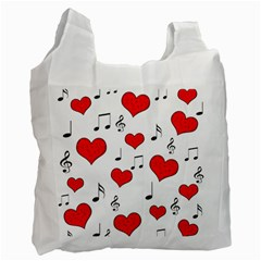 Love song pattern Recycle Bag (One Side)