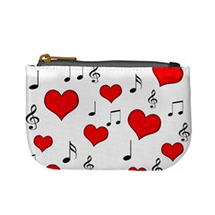 Love song pattern Mini Coin Purses