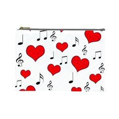 Love song pattern Cosmetic Bag (Large)