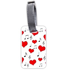 Love song pattern Luggage Tags (Two Sides)