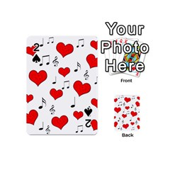 Love song pattern Playing Cards 54 (Mini)