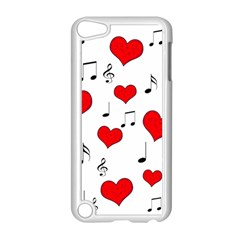 Love song pattern Apple iPod Touch 5 Case (White)