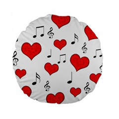 Love song pattern Standard 15  Premium Round Cushions