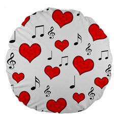 Love song pattern Large 18  Premium Round Cushions