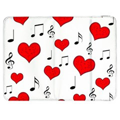 Love song pattern Samsung Galaxy Tab 7  P1000 Flip Case