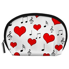 Love song pattern Accessory Pouches (Large)