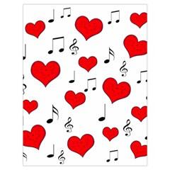 Love song pattern Drawstring Bag (Large)