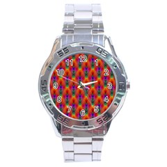 Apophysis Fractal Owl Neon Stainless Steel Analogue Watch