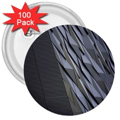 Architecture 3  Buttons (100 pack)