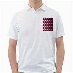 Argyle Pattern Pink Black Golf Shirts