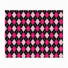 Argyle Pattern Pink Black Small Glasses Cloth