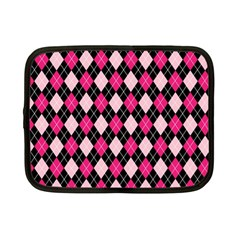 Argyle Pattern Pink Black Netbook Case (Small)