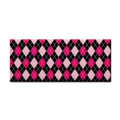 Argyle Pattern Pink Black Cosmetic Storage Cases